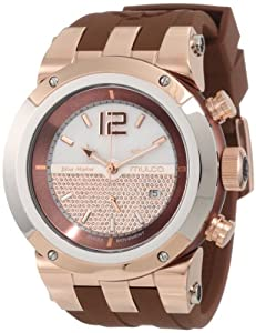 Mulco Unisex MW5-1621-033 Blue Marine Glass Chronograph Swiss Movement Watch