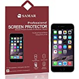 SAMAR® - Supreme Quality New iPhone 6 Crystal Clear Screen Protectors [Released September 2014] 6 in Pack - [4.7-inch Screen Display] - Includes Microfiber Cleaning Cloth