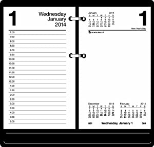 AT-A-GLANCE 2014 Daily Desk Calendar Refill, 3.5 x 6 Inches (E717-50)