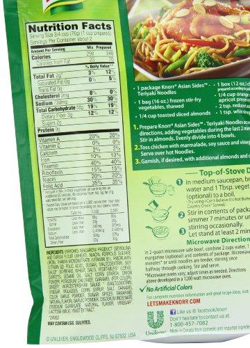 Knorr Asian Sides Teriyaki Noodles 4 6 Oz Pack Of 12