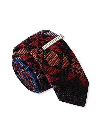 Skinny Tie Madness Men's Major Tom Plaid, Multi Color