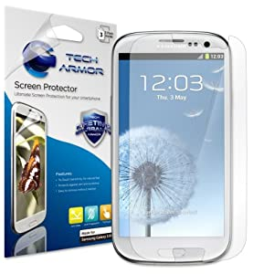 Tech Armor Samsung Galaxy S3 S III Anti-Glare & Anti-Fingerprint (Matte) Screen Protectors with Lifetime Replacement Warranty [3-PACK] - Retail Packaging