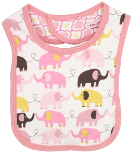 Magnificent Baby Baby-Girls Newborn Reversible Bib, Marrakesh/Elephant, One Size(0-6 Months)