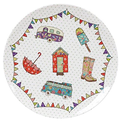 The Caravan Trail Petite assiette en mélamine Motif Festival Multicolore 20,3 cm