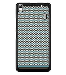 PrintDhaba Zig Zag Pattern D-1691 Back Case Cover for LENOVO A7000 TURBO (Multi-Coloured)