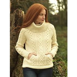 Carraigdonn 100% Wool Cowl neck Sweater (Irish Made)