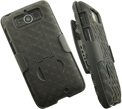 Oem Verizon Black Shell Case Belt Clip Holster Stand For Motorola Droid Mini Xt1030 by Verizon