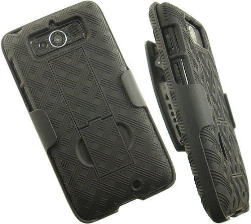 Oem Verizon Black Shell Case Belt Clip Holster Stand For Motorola Droid Mini Xt1030