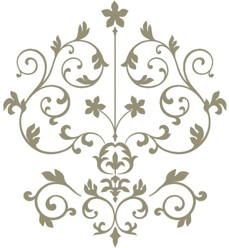 Brewster Wall Pops WPK99061 Peel & Stick Nouveau Damask Wall Art Kit, 2-Sheets