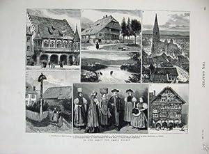 Schwarzwald-Freiburg-Kathedrale 1882 Rhein Neuhausen