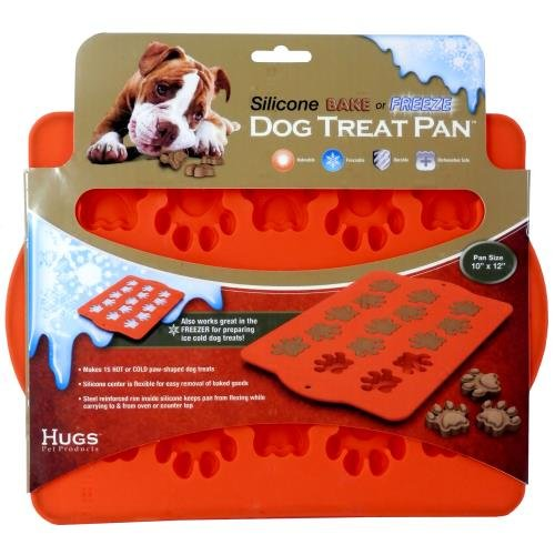 Hugs Pet Products Silicone Bake Or Freeze Dog Treat Pan, Paw Print