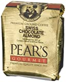Pear's Gourmet Swiss Chocolate Almond Ground Coffee, 8-Ounce Bags (Pack of 6)