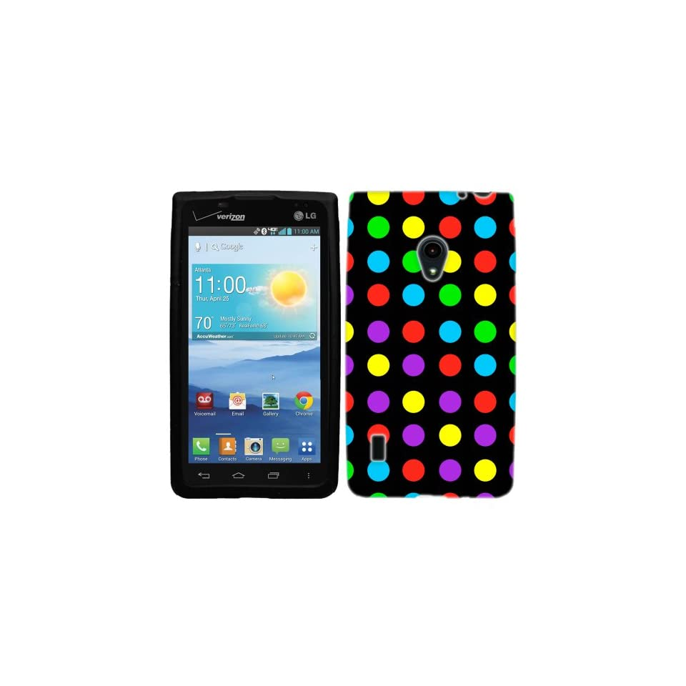 LG Lucid 2 Colorful Polka Dots Hard Case Phone Cover Cell Phones & Accessories
