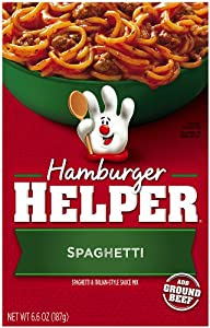 Betty Crocker Hamburger Helper Spaghetti, 6.6-Ounce Boxes (Pack of 12)