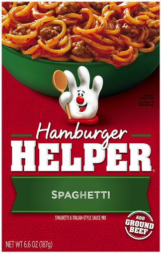 Betty Crocker Hamburger Helper Spaghetti, 6.6-Ounce Boxes (Pack Of 12)