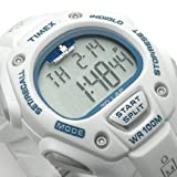 Timex Ironman T5K249 Men's White Triathlon Watch 30 Lap with Flix System