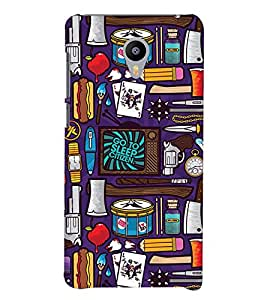 Printvisa Animated Miscellaneous Things Background Back Case Cover for Meizu m3 note::Meizu Blue Charm Note3