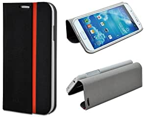 Shenit Samsung Galaxy S4 i9500 Slim Smart Leather Case Flip Cover Folio with Stand - Black