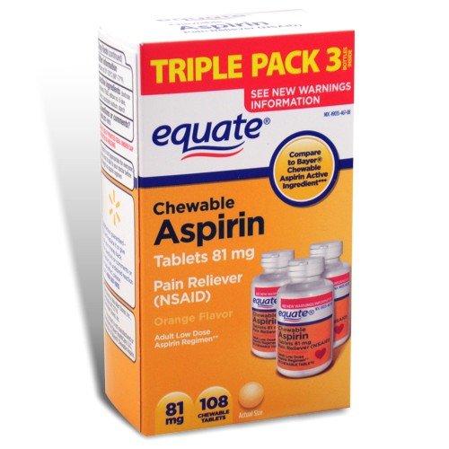 Adult chewable aspirin