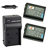 DSTE® アクセサリーキット NP-FW50 互換 カメラ バッテリー 2個+充電キット対応機種 Alpha 7 7R II 7S a7 a7R a7S a7R II Alpha a3000 a5100 a6000 NEX-3 NEX-5 NEX-6 NEX-7 SLT-A37 DSC-RX10 II