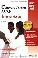 Concours d'entrée AS-AP : Epreuves écrites