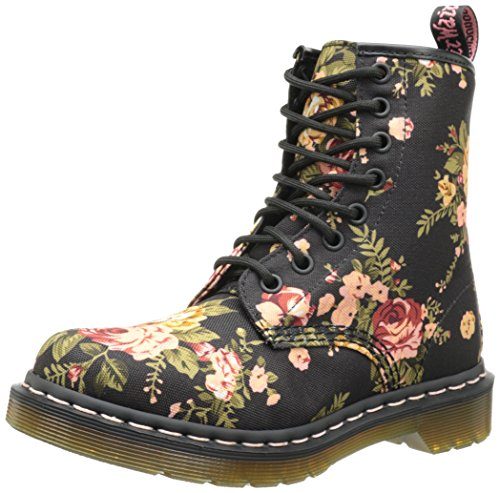 1460 Victorian Flowers BLACK, Damen Bootsschuhe, Schwarz (Black), 36 EU (3 Damen UK)