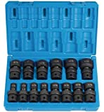 "Grey Pneumatic (1314U) 1/2"" Drive 14-Piece Standard Length Fractional Universal Socket Set"