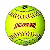 DeMarini 12 Lightning Yellow Leather Polycore ASA Softballs - 1 Dozen by DeMarini
