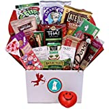 Cupid's Healthy Mix Valentine's Day Care Package - Great for College Students, Military Troops, or to Wish Anyone a Happy Valentine's Day