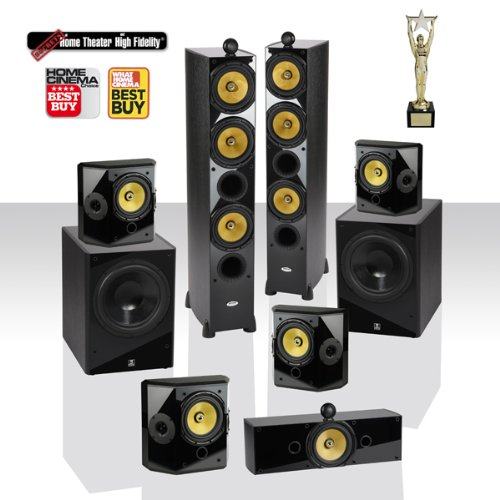 """Crystal Acoustics T3-7.2-Ul Home Theater System With Thx Ultra2 Fronts And Dual Thx Ultra2 12"""" Subwofers"""
