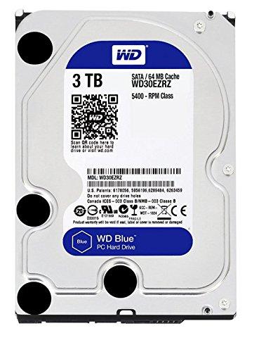 WD Blue 3TB  Desktop Hard Disk Drive - 5400 RPM SATA 6 Gb/s 64MB Cache 3.5 Inch  - WD30EZRZ