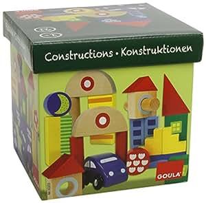 Goula - 50203 - Jouet Premier Age - Boîte 40 Bloques Construction + Voiture