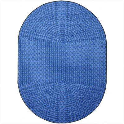 "Whimsy Legacy Blue Oval Rug with Braided Print Size: Oval 7'8"" x 10'9"""