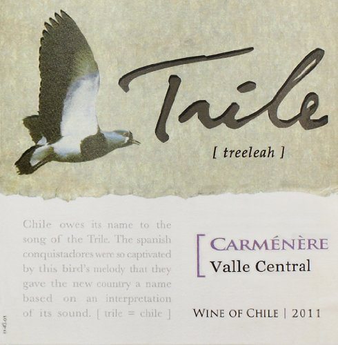 2011 Trile, Carmenere, Chile 750 Ml
