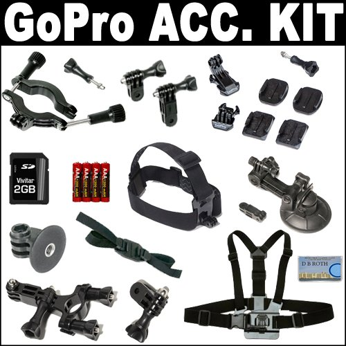 GoPro Deluxe Accessory Kit For All Wide HD Cameras