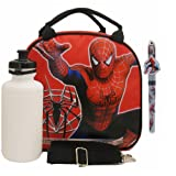 Spiderman Lunch Bag with a Water Bottle - Red