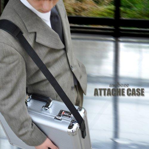 【BARDI(バルディ)BA-E002 紳士用 アルミ アタッシュケース ダイヤル錠付き】アルミアタッシュ ビジネスバッグ 鍵付 出張 a3 シルバー 男性 メンズ