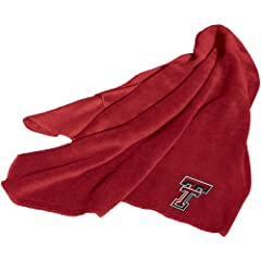 Brand New Texas Tech Red Raiders NCAA Fleece Throw Blanket by Things for You