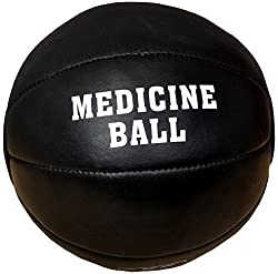 CSI Leather Medicine Ball, 1 Kg (Black)