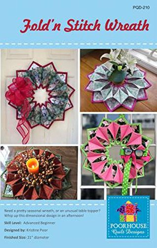 Best Buy! Fold'n Stitch Wreath pattern (pattern only-not the finished project)