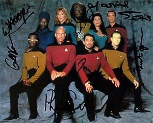 Star Trek The Next Generation Cast Signed Autographed 8 X 10 RP Photo - Mint Condition
