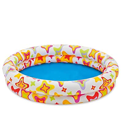 "48"" X 10"" Inflatable Stars Kiddie 2 Ring Circles Swimming Pool By Intex"