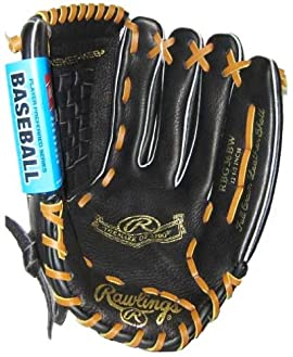 Rawlings RBG36BW Player Preferred Series 12 1/2 inch Infielder/Pitcher/Outfielder Baseball/Softball Glove (Black)