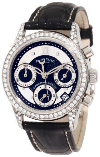 Armand Nicolet Women's 9154L-NN-P915NR8 M03 Classic Automatic Stainless-Steel with Diamonds Watch