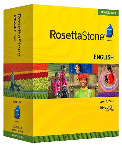 Rosetta Stone Homeschool English (UK) Level 1-3 Set including Audio Companion