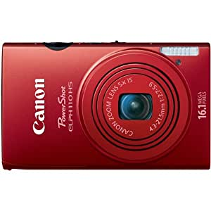 Canon PowerShot ELPH 110 HS 16.1 MP CMOS Digital Camera with 5x Optical Image Stabilized Zoom 24mm Wide-Angle Lens and 1080p Full HD Video Recording (Red)