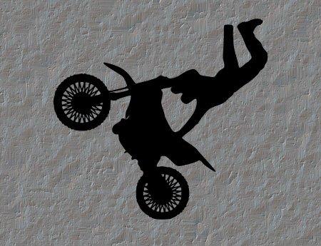 Motocross Dirtbike Vinyl Wall Decal Sticker Decor Art