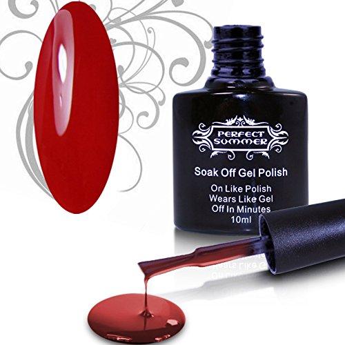 Perfect Summer 1pcs 10ml Vernis à Ongles Semi Permanent Soak Off à Couleur Vive pour Nail Art Manucures -Bordeaux #43