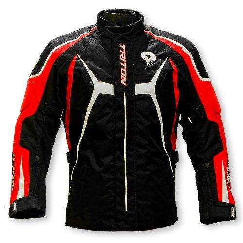 DSG Nylon/600 Denier Cordura Fabric Triton Jacket (Black and Red, Medium)