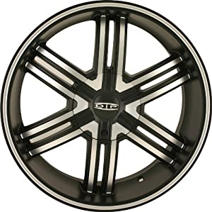 Dip Hack 24 Matte Black Wheel / Rim 6×135 & 6×5.5 with a 30mm Offset and a 87 Hub Bore. Partnumber D98-24937MB